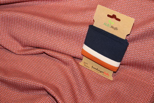 Hamburger Liebe Knit Knit Mini Stripes orange